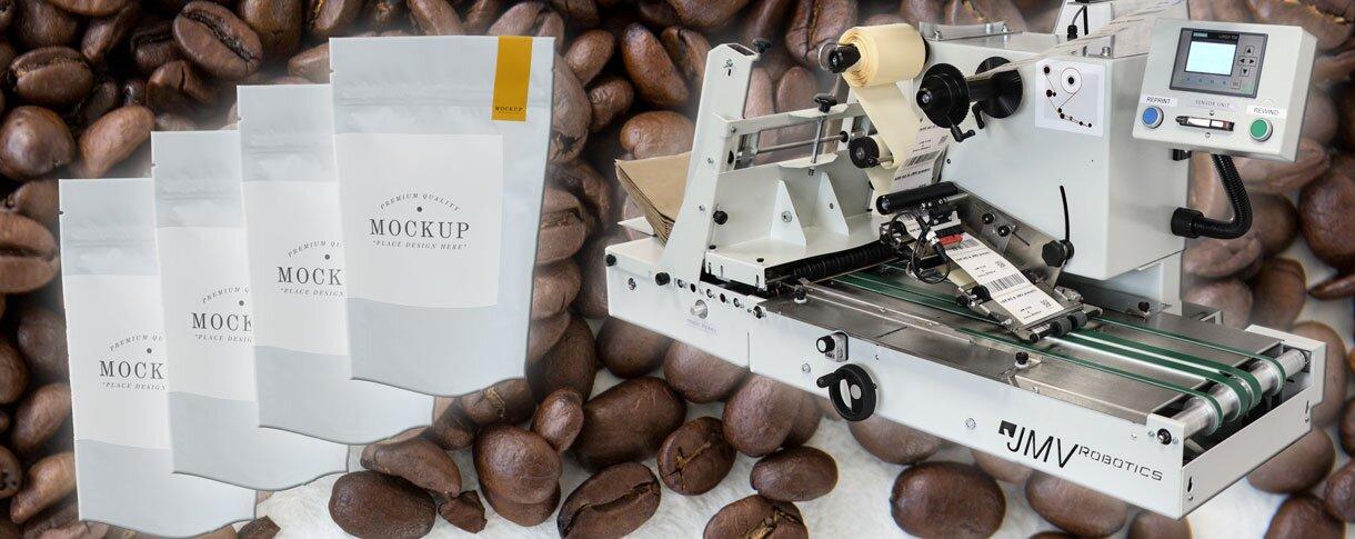 Kaffeebeutel Etikettiermaschine