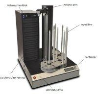 DVD Brennroboter - Cyclone mit Drucker HP Excelsior III