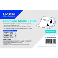 Premium Matte Label Continuous Roll, 76 mm x 35 m