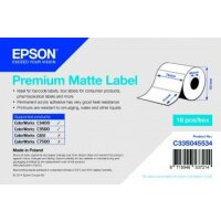 Premium Matte Label - Die-cut Roll: 76mm x 51mm, 650 labels