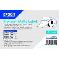 Premium Matte Label - Die-cut Roll: 76mm x 127mm, 265 labels