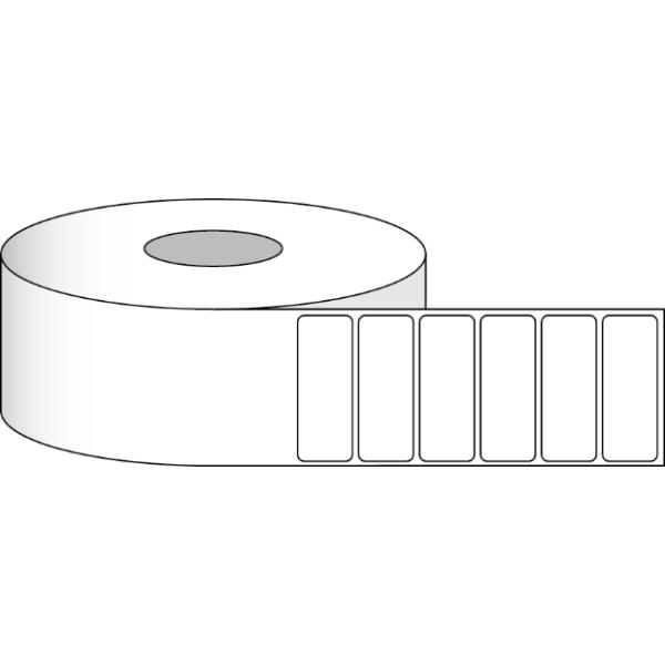 """Papier Hochglanz Etikett 4x1,5"""" (10,16 x 3,81 cm) 1300 Etiketten pro Rolle 2""""Kern"""