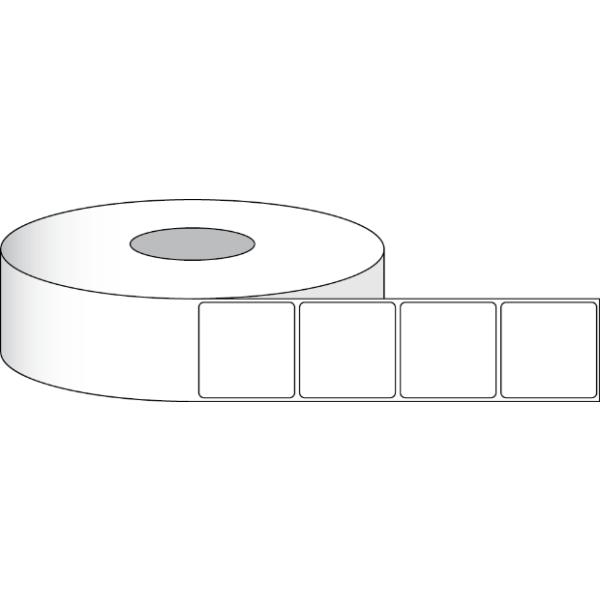 """Papier Hochglanz Etikett 1,5x1,5"""" (3,81 x 3,81 cm) 900 Etiketten pro Rolle 2""""Kern"""