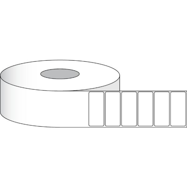 """Papier Hochglanz Etikett 2x1"""" (5,08 x 2,54 cm) 1900 Etiketten pro Rolle 2"""" Kern"""