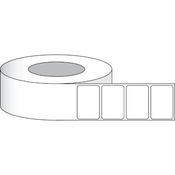 """Papier Hochglanz Etikett 3x2"""" (7,62 x 5,08 cm) 1000 Etiketten pro Rolle 2""""Kern"""