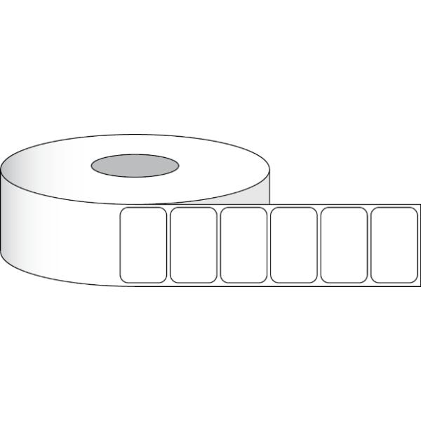 "Poly White Matte Eco Etiketten 4"" x 3"" (10,2 x 7,6 cm) 600 Etiketten pro Rolle 2"" Kern"
