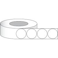 """Papier Hochglanz Etikett 2"""" (5,08 cm) 1250 RUNDE Etiketten pro Rolle 3""""Kern"""