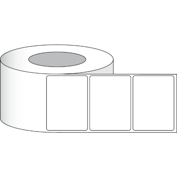 """Papier Hochglanz Etikett 4x3"""" (10,16 x 7,62 cm) 850 Etiketten pro Rolle 3""""Kern"""