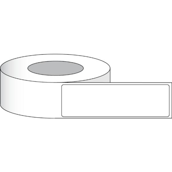 """Papier Hochglanz Etikett 2,5x6"""" (6,35 x 15,24 cm) 425 Etiketten pro Rolle 3""""Kern"""