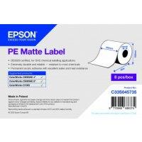 PE Matte Label - Continuous Roll: 102mm x 55m