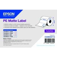 PE Matte Label - Die-cut Roll: 102mm x 76mm, 1570 labels