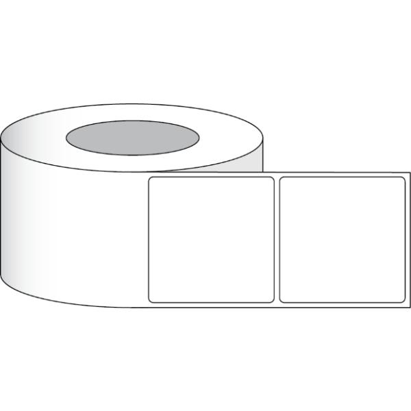 """Papier Hochglanz Etikett 3,5x3,5"""" (8,89 x8,89 cm) 700 Etiketten pro Rolle 3""""Kern"""