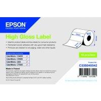 High Gloss Label - Die-cut Roll: 76mm x 51mm, 610 labels