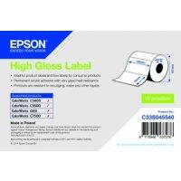 High Gloss Label - Die-cut Roll: 102mm x 76mm, 415 labels