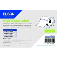 High Gloss Label - Continuous Roll: 51mm x 33m