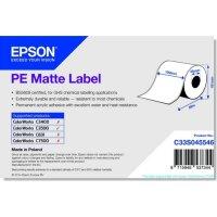 PE Matte Label - Continuous Roll: 102mm x 29m