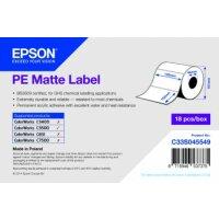 PE Matte Label - Die-cut Roll: 102mm x 152mm, 185 labels