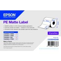 PE Matte Label - Die-cut Roll: 102mm x 76mm, 365 labels