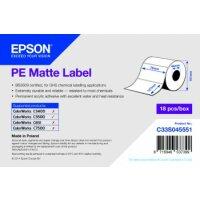 PE Matte Label - Die-cut Roll: 76mm x 127mm, 220 labels