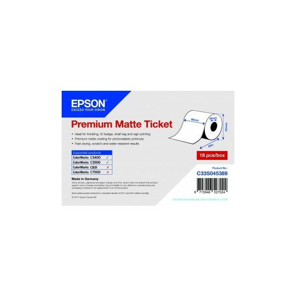 Premium Matte Ticket Roll, 80 mm x 50 m