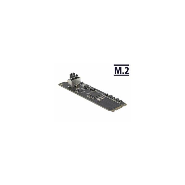 Konverter M.2 Key B+M Stecker zu USB Type-C™ Buchse