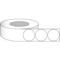 """Runde Etiketten 2,5"""" (6,4 cm) auf Rolle Papier Hochglanz Oberfäche"""