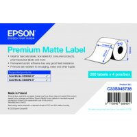Premium Matte Label - Die Cut Roll: 210mm x 297mm, 200...