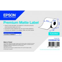 Premium Matte Label - Continuous Roll: 203mm x 60m