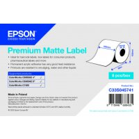 Premium Matte Label - Continuous Roll: 102mm x 60m