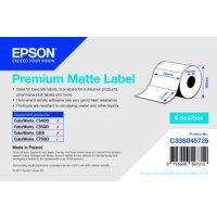 Premium Matte Label - Die-cut Roll: 76mm x 51mm, 2310 labels