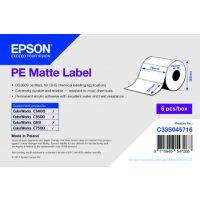 PE Matte Label - Die-cut Roll: 76mm x 127mm, 960 labels