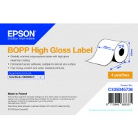 BOPP High Gloss Label - Continuous Roll: 203mm x 68m