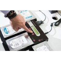 Festplatten Löchgerät mit optional erhältlichen Protokolldrucker